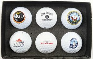 Lot of 6 Branded Golf Balls Collectible Jack Daniels MGD F-35 89th Southern EUC