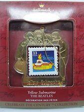 1999,  THE BEATLES, YELLOW SUBMARINE USPS STAMP - Hallmark Keepsake Ornament