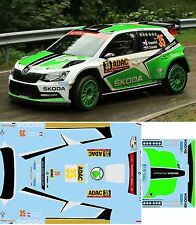 SKODA FABIA R5 KOPECKY  RALLY  GERMANIA  2016 DECALS  1/43