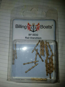 BILLING BOATS - BF-0030 Rail Stanchion (20) 20mm 3 Hole BRAND NEW Brass