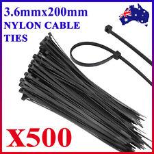 500/1000/2000 Bulk Cable Ties Zip Ties Black (4.8mm x 300mm) Nylon UV Stabilised