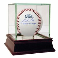 "J.D. MARTINEZ Autographed  ""2018 WS Champs"" World Series Baseball STEINER"
