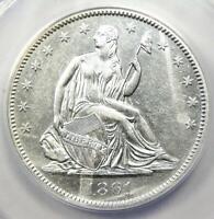 1861-O Seated Liberty Half Dollar 50C - Certified ANACS AU50 Detail - Rare Coin!