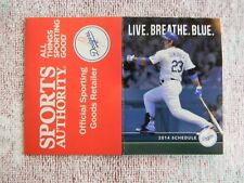 2014 MLB LOS ANGELES DODGERS BASEBALL POCKET SCHEDULE - GONZALEZ FEB018