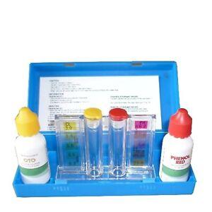 Testkit Flüssig Chlor pH Testgerät manuell mit Testflüssigkeit Schwimmbad Pool