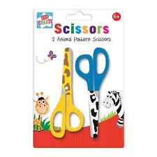 Kids Create Plastic Arts and Crafts Animal Printed Scissors Assorted Colour New