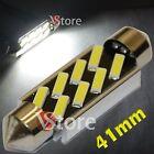 2 LED Festoon 41mm 8 SMD 7020 Error Free Lamps Lights White Inner Plate Xenon