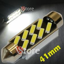 2 LED Torpedo 41mm 8 SMD 7020 No Error Lámparas Luces BIANCO Interno