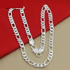 925 Silber Herren Damen Halskette  Männer Schmuck Männer Kette L:60 CM/B: 4 MM