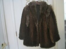 "Vintage ""Miss"" Red Fox Fur CHINCHILLA SABLE Coat Jacket - Sz. M"