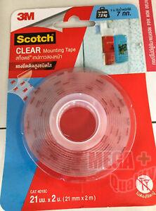 Clear Mounting VHB Tape Permanent Scotch 3M 4010   21mm x 2m Free Shipping