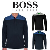 Hugo Boss Green Men's Pleesy 1 Long Sleeve Slim Fit Stretch Polo Shirt