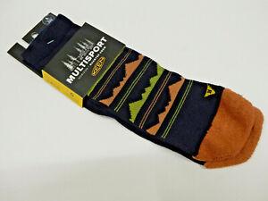 Keen Mens Horizon Ultralite 1/4 Crew Socks Black Size L (9-12)