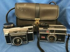 Mid-Century KODAK Instamatic Camera 400 414 Lot of 2 with Carrying Case Vintage