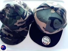 Snapback Cotton Blend Camouflage Hats for Men