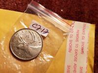 1943 Canada 25 Cents Rare Silver Coin ID#C717.