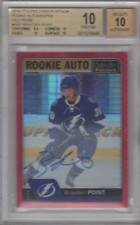 2016-17 O-Pee-Chee Platinum Rookie Auto Red Prism R-BP Brayden Point /50 BGS 10