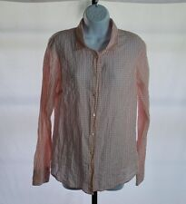 J.Crew Pink Gingham Long Sleeve Button Front Shirt Women's Sz M