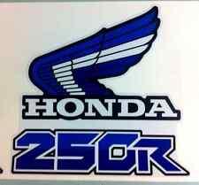 Custom Honda ATC250R 1986 Decals White and Blue 250R ATC