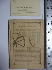 Carriages Pamphlet & Card. Springfield VT. circ 1880's. AB114