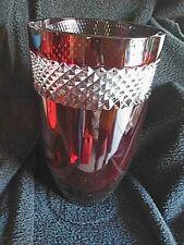 "Waterford Crystal 12"" John Rocha Red Ruby Vase"
