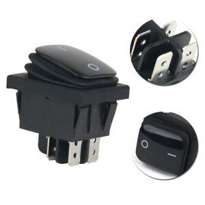 1pcs 4 Pin 12V Waterproof Car Black Round Rocker ON/OFF SPST SWITCH Accessories