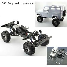 1:10 Land Rover D90 Body shell + Chassis Set For RC  AXIAL SCX10 RC4WD