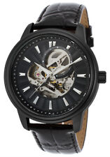 Invicta Men's Watch Vintage Automatic Semi-Skeleton Dial Black Strap 22580
