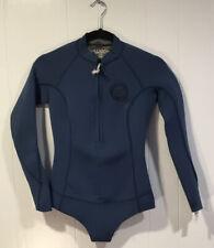NWT Billabong Medium Blue Front Zip Salty Daze Short Suit SZ 4 WMN WETSUIT