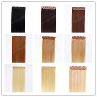 """26"""" Indian Remy Human Hair One Piece Volumizer Clip In Extensions 60g,15 colors"""