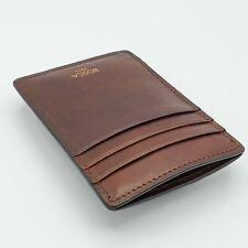 Bosca Dolce Leather Dark Brown Wallet / Money Clip 78 128