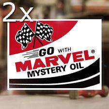 2x pièce Marvel Mystery Oil sticker autocollant hot rod autocollante old school