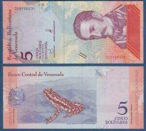 LOTE 3 BILLETES 5 BOLIVARES SOBERANOS VENEZUELA 2018 BANKNOTES LOT SET UNC
