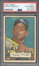 1952 Topps #311 Mickey Mantle PSA Authentic