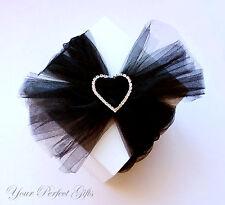 "12 HEART 1.5"" Wedding Rhinestone Diamante Invite Buckle"