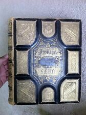 Large German Holy Bible Heilige Schrift 1874 1884 Gorgeous Leather Martin Luther