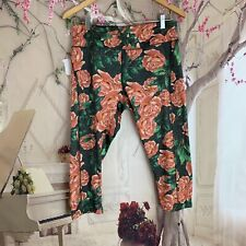 Lularoe Woman's Rose Printed Active Legging Size Large Yoga Workout