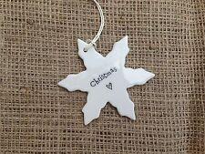 Christmas Tree Porcelain Snowflake Hanging Sign Shabby Chic Xmas Decoration Gift