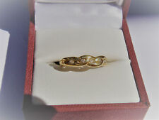 Lovely, Solid 9K Yellow Gold, Genuine Diamond Ring. Valuation $600.00