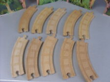 BRIO LEARNING CURVE THOMAS WOODEN RAILWAY TRACK  10 CURVES..