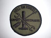 US ARMY 2ND ARMORED DIVISION EXPERT MECHANIC PATCH - BDU SUBDUED