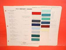 1955 MERCURY CUSTOM MONTEREY MONTCLAIR CONVERTIBLE SUN VALLEY COUPE PAINT CHIPS