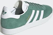 ADIDAS Gazelle Scarpe da ginnastica Green & White in pelle scamosciata futuro Hydeo Retrò UK 13 EF5552