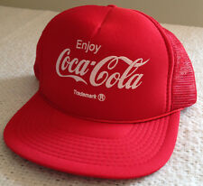 Enjoy Coca-Cola Red Trademark Adjustable Trucker Hat Designer Award Headwear