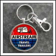 Vintage Airstream Travel Trailer Decal Photo Keychain Key Chain Pendant Gift 🎁