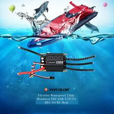 High Quality Flycolor Waterproof 150A Brushless ESC + 5.5V/5A BEC for RC Boat