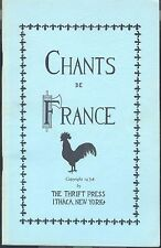 Chants de France Songbook 4 Voices Text In French 1934 Alouette Frere Jacques