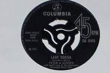 """PETER & GORDON -Lady Godiva / Morning's Calling- 7"""" 45 Columbia (DB 8003)"""