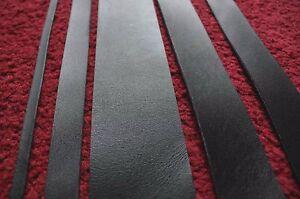 "59"" 150 cm long 3 mm thick BLACK LEATHER STRAP BELT BLANK STRIP various width"