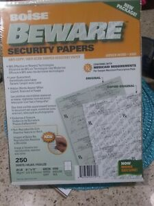 Boise Beware Anti-Copy Security Papers 8.5 x 11 Green 250 Sheets Rx Approved xx